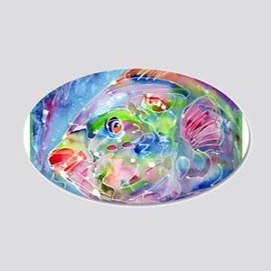 Fish, Colorful, 22x14 Oval Wall Peel