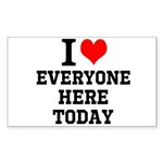 I Love Sticker (Rectangle 50 pk)