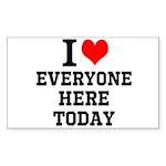 I Love Sticker (Rectangle 50 pk)
