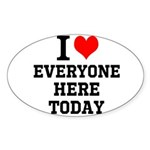 I Love Sticker (Oval 50 pk)