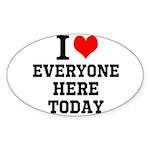 I Love Sticker (Oval 10 pk)
