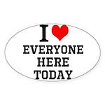 I Love Sticker (Oval)