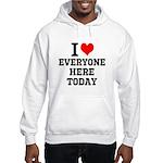 I Love Hooded Sweatshirt