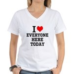 I Love Women's V-Neck T-Shirt