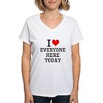 I Love Women's V-Neck T-Shirt