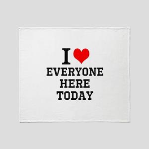 I Love Throw Blanket