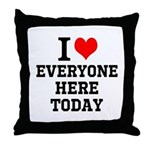 I Love Throw Pillow