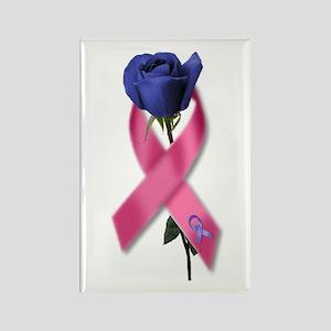 Ribbon Rose Rectangle Magnet