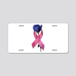 Ribbon Rose Aluminum License Plate