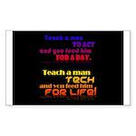 Teach Tech For Life! Sticker (Rectangle 50 pk)