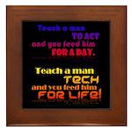 Teach Tech For Life! Framed Tile