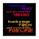 Teach Tech For Life! Tile Coaster