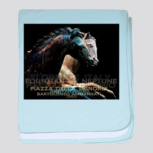 Horses of Florence Italy baby blanket