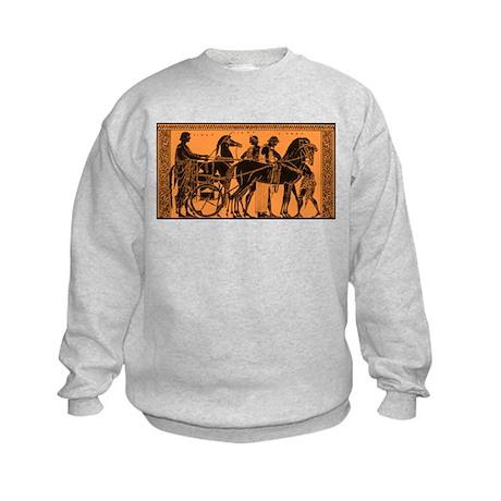 Ancient Greek Chariot Kids Sweatshirt