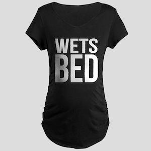 Wets Bed Maternity Dark T-Shirt
