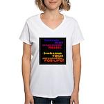 Teach Tech For Life! Women's V-Neck T-Shirt