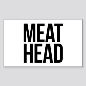 Meat Head Sticker (Rectangle)