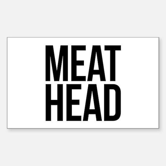 Meat Head Sticker (Rectangle)