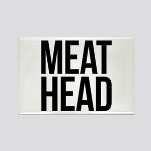 Meat Head Rectangle Magnet