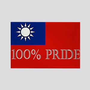 100% PRIDE Rectangle Magnet