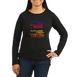 Teach Tech For Life! Women's Long Sleeve Dark T-Sh