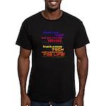 Teach Tech For Life! Men's Fitted T-Shirt (dark)