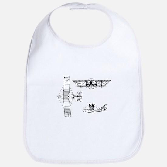 Airplane Blueprint Bib