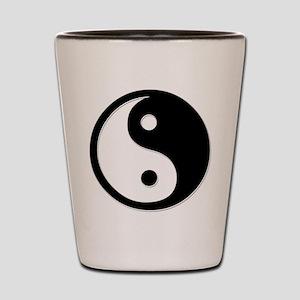 Black Yin Yang Shot Glass