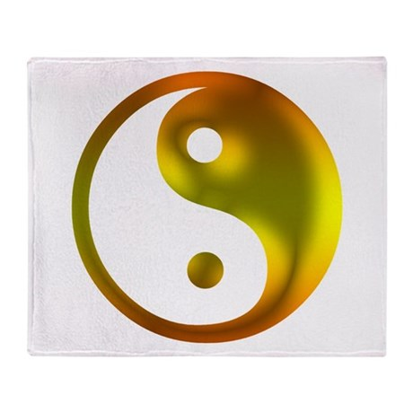 Sunshine Yin Yang Throw Blanket