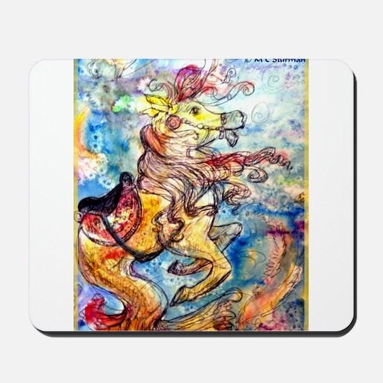 Seahorse, colorful, Mousepad