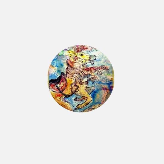 Seahorse, colorful, Mini Button