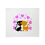 Kitty Cat Love Throw Blanket