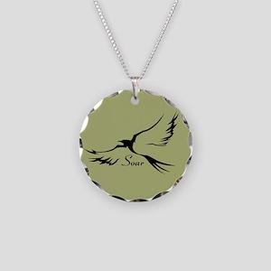 Soar Sage Necklace Circle Charm