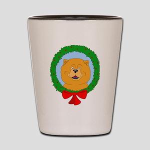 Chow Chow Christmas Shot Glass