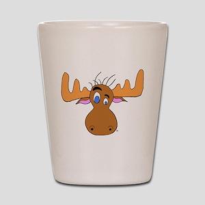 Cartoon Moose Antlers Shot Glass