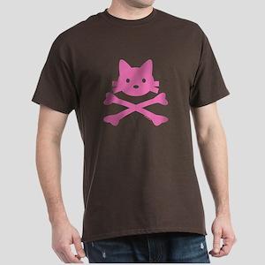Pirate Kitty Skull Dark T-Shirt