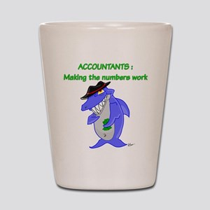 Shark Accountant Shot Glass