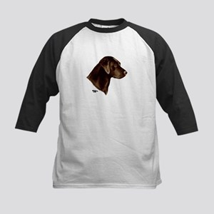 Chocolate Labrador Retriever Kids Baseball Jersey