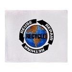 Recycle World Throw Blanket