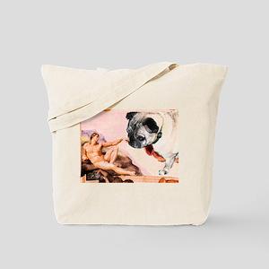 Creation of Pug! Tote Bag