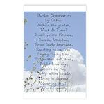 Garden Observation Poem by Catphi Postcards (8)