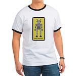 Catphi's Sad Robot Ringer T-shirt