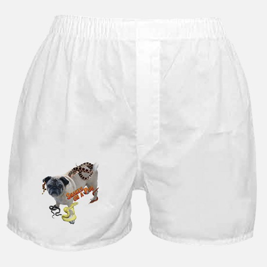 Snakes on a Pug Boxer Shorts