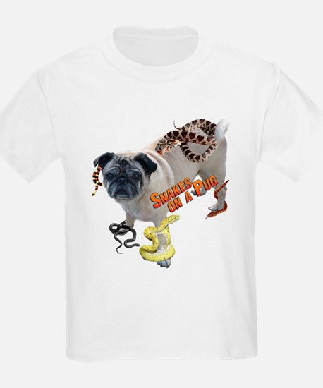 Snakes on a Pug Kids T-Shirt