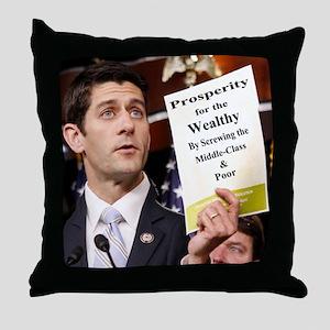 Real Paul Ryan Plan Throw Pillow