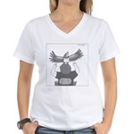 Kestrel (no text) Women's V-Neck T-Shirt