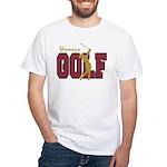Womens Golf White T-Shirt