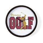 Womens Golf Wall Clock