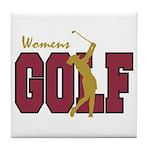 Womens Golf Tile Coaster