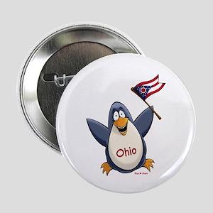 "Ohio Penguin 2.25"" Button"